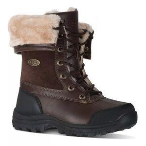 NWT Lugz Tambora red brown fur winter boots